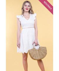 6ed4237d465e iné Biele šaty s holým chrbátom