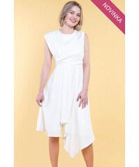 41fcd4e32376 Chicwish Biele asymetrické šaty