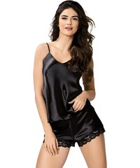 1c0a10ad9bca Donna Luxusné dámske saténové pyžamo Karen čierne. Nové