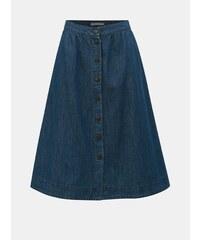 9a9aa0a20d68 Tmavě modrá džínová sukně s knoflíky VERO MODA Flavia