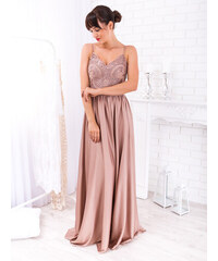 cd02335a8816 www.glashgirl.sk Zlaté dlhé spoločenské šaty s čipkou s dlhým ...