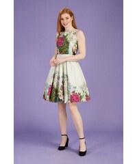 f06f9ce232c1 Světle zelené šaty s květy Lady V London Tea