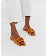 1f57955cb7b6 Mango slip on sandals in orange - Orange