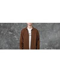 a1f7e78b0b32 Stüssy Yip Up Mixed Cord Shirt Brown