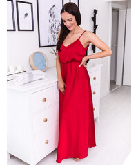 d34cd1e9b48a www.glashgirl.sk Tmavočervené dlhé spoločenské šaty s rozparkami ...