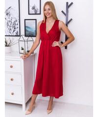 35a16ee5c26d www.glashgirl.sk Červené dlhé saténové šaty s hrubými ramienkami Kayla