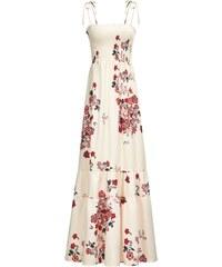 14c0c73d0478 LM moda Dlouhé letní šaty s květy krémové 8115-2
