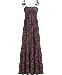 8a866c0bb684 LM moda Dlouhé letní šaty s květy černé 8115-4