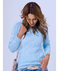 067f19a2e162 VERSABE Dámsky pletený sveter JASMIN modrý