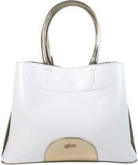 0e81176f36 Biela elegantná dámska kabelka so zlatými doplnkami S750 GROSSO