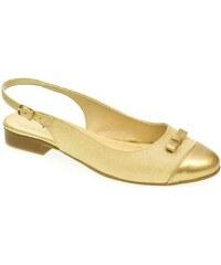 8b22362d0004 John-C Sandále Dámske zlaté sandále EVELINE John-C