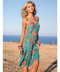 6f6af616ee1f Venca Krátké šaty s potiskem a úzkými ramínky tyrkysová