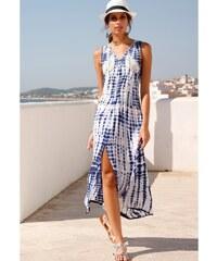 0acd48bbf651 Venca Dlouhé šaty se vzorem batiky modrá