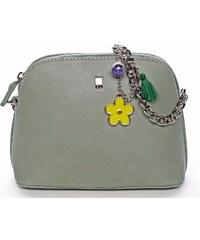 9d6b7a7955 Malá elegantní crossbody kabelka bledě zelená - David Jones Trina zelená