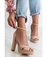 934c1529e351 Mulanka Béžové sandály Verona