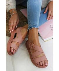 2c5d38ab328a Zaxy Ružové sandále Street Fem