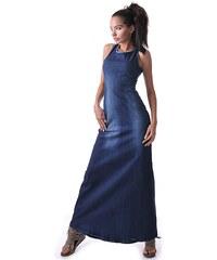 843f3d262e22 Addictshop Dámske šaty Benito 3 jeansové dlhé