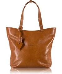 9986b565a Veľká kožená luxusná kabelka do ruky Lamato svetlo hnedá lam-01-5-006