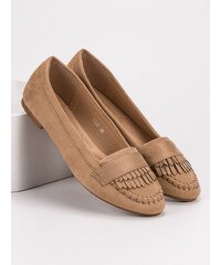 a24a39ce01ba SMALL SWAN CLASSIC RIBBED HEMS IN THE LOAFERS shades of brown and beige