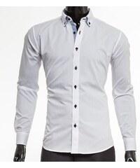 Pánská košile Victorio s dlouhým rukávem - bílá