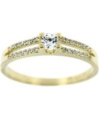36afe9621 Zlatnictví U Kostela Zlatý prsten s bílými zářivými zirkony 41333