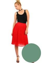 ee7a873f60fa Glara Dámska plisovaná skladaná midi sukňa s pružným pásom