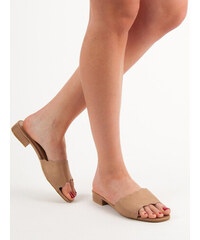 b5f66a06f462 SMALL SWAN FLIP ON FLAT HEELS shades of brown and beige
