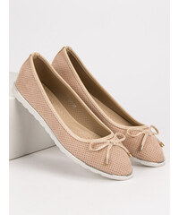 cbffecb2a8 SMALL SWAN BEIGE BALLET PUMPS shades of brown and beige