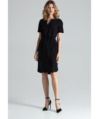 609a045a90 FIGL Dámske lesklé čierne šaty M360 - Glami.sk