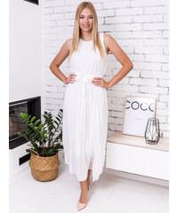 4cb5ec49ea www.glashgirl.sk Biele dlhé plisované šaty