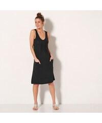 7deb5459c55d Blancheporte Jednofarebné úpletové šaty čierna
