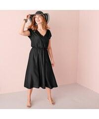 a8841328ed4f Blancheporte Dlhé šaty s prekrížením čierna