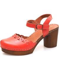 c0eaf648230d Iné Dámske uzatvorené sandále na vysokom podpätku Rizzoli - ružové