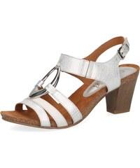 550d093d6761 Biele dámske otvorené sandále na vysokom podpätku značky Caprice