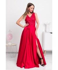 53f9cb6b1040 Mia Dresses Červené spoločenské šaty so saténovou sukňou