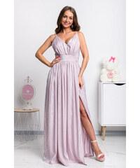 84b49a77b287 Mia Dresses Fialové lesklé spoločenské šaty