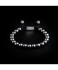 95d44e794 NORVELY 925 Sterling Silver Beads & Hematite Stones 8mm Basic Bracelet