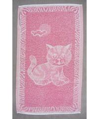Frotex Dětský ručník Kotě růžové 30x50