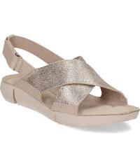 a1d698168c Clarks Dámske kožené sandále s prekríženými remienkami