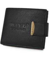 ab4babb657 Bellugio Čierna kožená peňaženka pre mužov - Wild Tiger