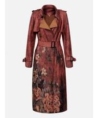 a62e0f2442 KOKAI Bordový vzorovaný dámský kabát SPRING ONE