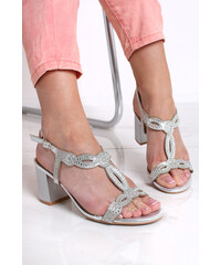 d9af903f52 Ideal Strieborné sandále Alora