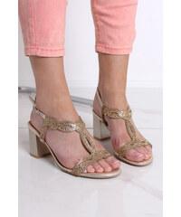 626dde6775 Ideal Zlaté sandále Alora