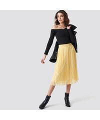 4f6a1c03f1 NA KD Žltá plisovaná midi sukňa XS