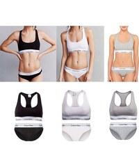 afdf64218 Dámské sportovní podprsenky a kalhotky Calvin Klein 6 pack - černá, bílá,  šedá