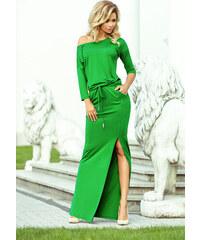 df80b23e0d NUMOCO Zelené maxi šaty 220-7