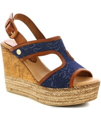 b1693a374a Modré Dámske sandále na platforme