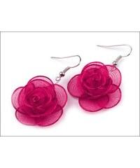 Romantické malinové náušnice Růže