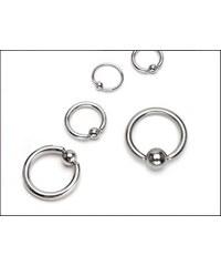 Piercing stříbrný kroužek s kuličkou