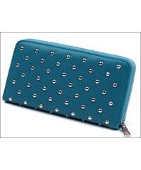 Hladká modrá peněženka s cvočky